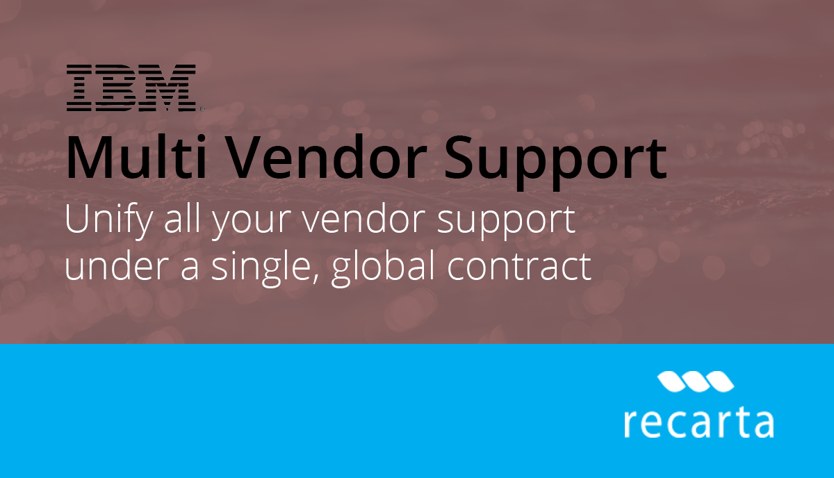 Multi Vendor Support Reduces Costs & Headaches